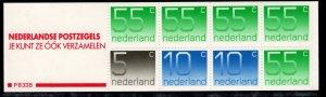 Netherlands Scott # 536g, mint nh, cpl. stamp booklet, se-tenant