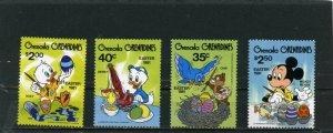 GRENADA GRENADINES 1981 Sc#430-433 DISNEY EASTER SET OF 4 STAMPS MNH