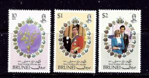 Brunei 268-70 MNH 1981 Prince Charles Wedding to Diana