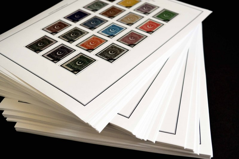COLOR PRINTED TURKEY 1923-2010 STAMP ALBUM PAGES (343 illustrated pages)