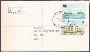 FIJI 1983 Registered cover to Suva ex SEAQAQA...............................5905