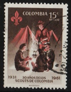 Colombia 1962 Air Mail / Scout Movement 15c (1/3) USED