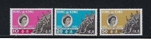 HONG KONG SCOTT #200-202 1962 HONG KONG STAMP CENTENNIAL- MINT LIGHT  HINGED