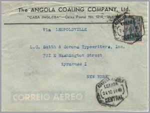 Angola (Portugal) - 1946 CERES Cover - Angola Coaling Company Ltd. - Mixed fkg
