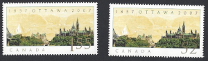 Canada #2213a/b used set, Ottawa parliament buildings, issued 2007