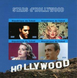 Chad People Stamps 2020 MNH Elvis Presley Marilyn Monroe James Dean 4v IMPF MS