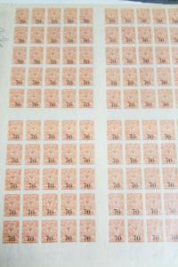 Serbia # 8 + # 9 Complete Stamp Sheets NH Imperforate Scott Value $165.00