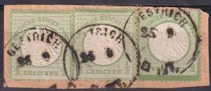 Germany #2 F-VF Multiple On Small Piece  CV $108.00  (Z2833)