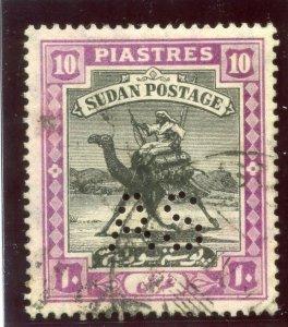 Sudan 1914 AS 10p black & mauve very fine used. SG A25. Sc MOA27