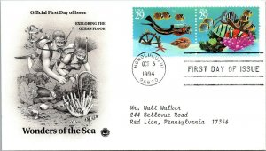 Wonders of the Sea Exploring Ocean Floor First Day Cover 1994 cachet