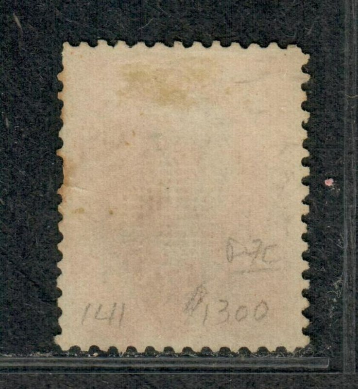 US Sc#141 Grill Used, VF-XF App. Crowe Cert Small Faults, Cv. $2500