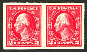U.S. #409 MINT LINE PAIR OG HR
