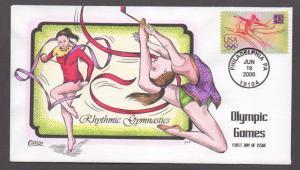 **US FDC SC# 4334 Philadelphia, PA 6/19/2008 Olympic Games, Gymnastics Collins