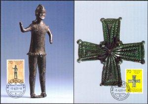 Liechtenstein 2000 Art Museums 2 Maxi Cards FDC