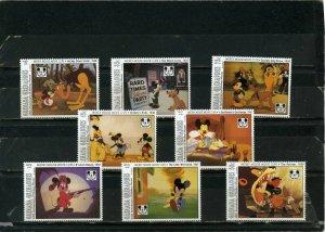 GRENADA GRENADINES 1993 DISNEY MICKEY 65th ANNIVERSARY SET OF 8 STAMPS MNH