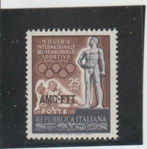 Trieste  Scott#  143  MH  (1952 Overprinted)