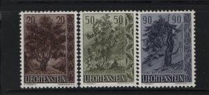 LIECHTENSTEIN 326-328 (3) Set, Hinged, 1958 Tree-Bush Type of 1957