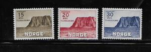 NORWAY, B28-B30, MINT HINGED, NORTH CAPE TYPE OF 1930