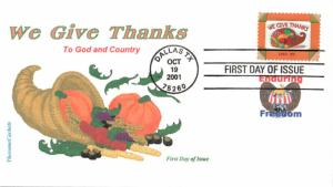 #3546 Thanksgiving Therome FDC