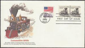 #1897A FDC 5/20/1982 CHICAGO, IL PLATE 3 FLEETWOOD CACHETS BU779