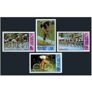Burkina Faso C258-C261,MNH.Michel 795-798. Olympics Moscow-1980.Bicycling.