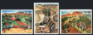 Israel 815-817, MNH. Landscapes by Lubin, Tagger, Paldi, 1982