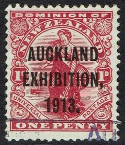 NEW ZEALAND 1913 AUCKLAND EXHIBITION 1D USED