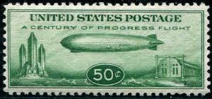 HERRICKSTAMP UNITED STATES Sc.# C18 Zeppelin NH Stamp, Bargain Priced!!