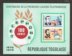 Togo Mi Bl 102B MNH. 1976 Edison & Bell imperf S/S
