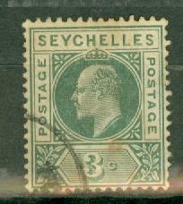 Seychelles 35 used variety dented frame Gibbons 47a CV $150