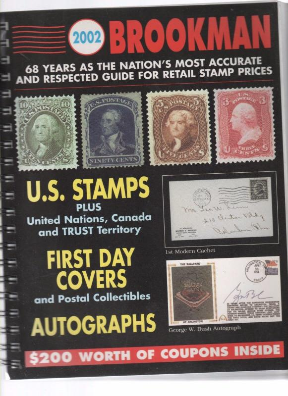 2002 BROOKMAN  of US STAMPS FDC & AUTOGRAPFS 18 0817
