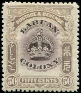 Labuan SC# 108 Crown 50c  MH