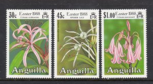 ANGUILLA 754-6 MNH VF Easter - Flowers