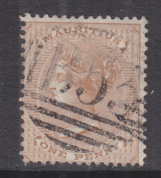MAURITIUS, 1872 CC 1d. Brown, used.