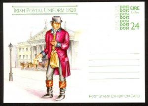 IRELAND 1987 24p Irish Postal Uniform 1820 Postal Card Mi. P21/02 Unused