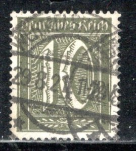 Germany Reich Scott # 138, used, Mi # 159a, exp h/s