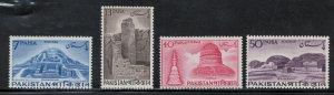 Pakistan 1963 Stupas Scott # 180 - 183 MH