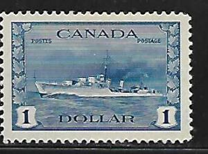 CANADA  262 MINT HINGED, DESTROYER ISSUE 1942