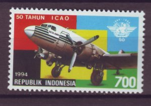 J25129 JLstamps 1994 indonesia set of 1 mnh #1595 airplane