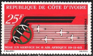Ivory Coast. 1963. 256. Air Africa. MLH.