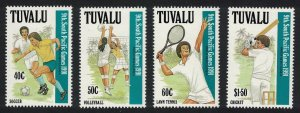 Tuvalu Football Volleyball Tennis Cricket 9th South Pacific Games 4v SG#609-612