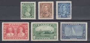 Canada Sc 211-216 MNH. 1935 Silver Jubilee, complete set, VF