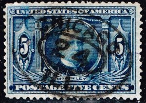 US STAMP #326 1904 5¢ McKinley Louisiana Purchase USED