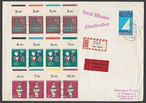 GERMANY 1969 Registered cover - nice franking...............................B365