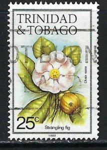 TRINIDAD & TOBAGO 396 VFU FLOWERS Z764