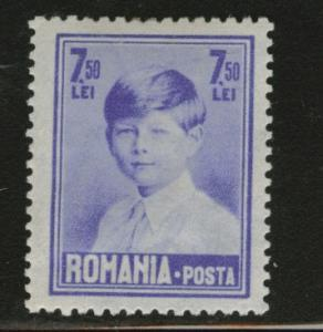 ROMANIA Scott 344 7.50 Lei MH* 1928 King Michael CV $2