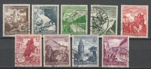 Germany - 1938 Flowers Sc# B123/B131  (7505)