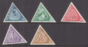 SURINAME, 1960 Airport Opening set of 5, used.
