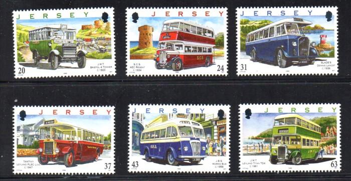 Jersey Sc 834-9 1998 Buses stamp set mint NH