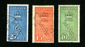 Denmark Stamp # B3-5 VF Used Catalogue Value $80.25